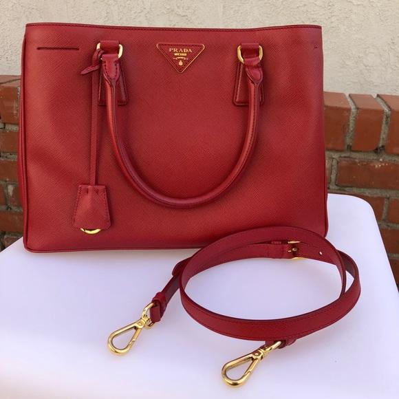 4fe36844d3fc Prada Bags   Medium Saffiano Lux Galleria Tote Strap Bag   Poshmark